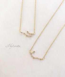 星座 Crystal necklace (ふたご座/かに座)