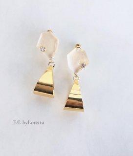 KAKERA Shizuku hoop pierce/earring(Pearl White)