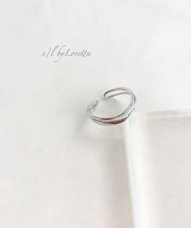 Silver925 W twist Ring
