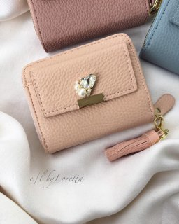 ≪全3色≫Heart bijou mini wallet