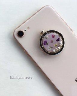 スマホ Ring Flower bijou(Lavender)