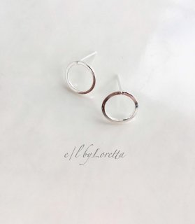 Silver925 mini circle pierce