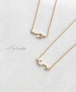 星座 Crystal necklace (てんびん座/さそり座)