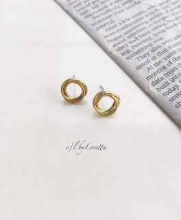 真鍮 mini circle Pierce