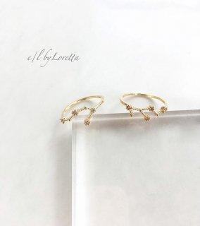 星座 Crystal Ring  (かに座/しし座)