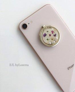 スマホ Ring Flower bijou(Ivory)