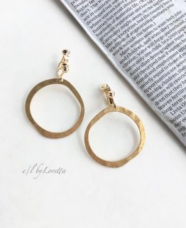 真鍮 hammered hoop pierce/earring