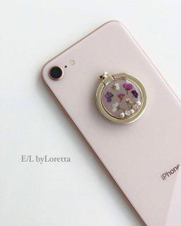 スマホ Ring Flower bijou(Beige)