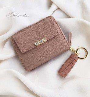 Bijou mini wallet(Smoky pink)