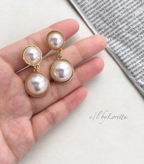 W pearl pierce/earring