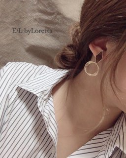 Bekkou triple hoop pierce/earring