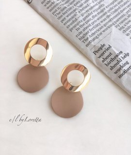 Circle mat color pierce(Beige)