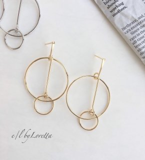 W hoop pierce(Gold)