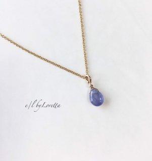 タンザナイト 14kgf drop necklace