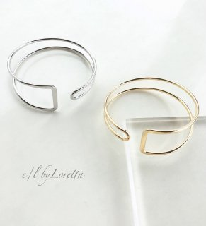 Metal frame bangle