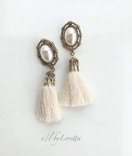Pearl tassel pierce(White)