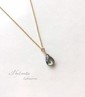 ラブラドライト 14kgf drop necklace