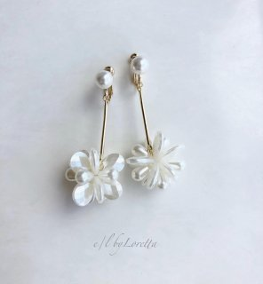 Shell flower stick pierce/earring