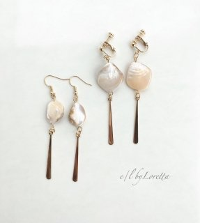 Shell stick pierce/earring