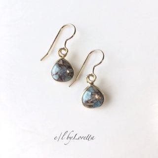 コッパーアマゾナイトmarron pierce/earring