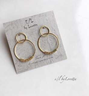 真鍮 mini W hoop Pierce
