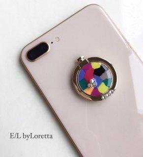 スマホ Ring Marble bijou