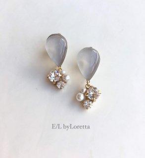 Color shizuku bijou pierce/earring(Beige)