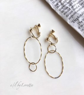 真鍮 Asymmetry W ring pierce/earring