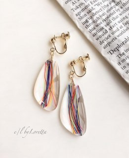 【9/16(mon)21:00〜Order Start.】Multi color clear beads pierce/earring(Mix)