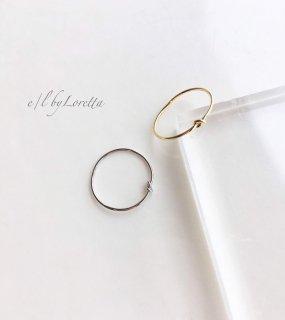 (全2色)Tie Ring