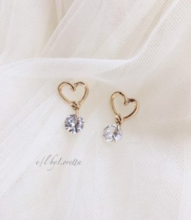 Crystal heart pierce