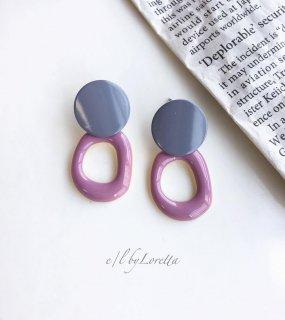 Color hoop pierce(Pink)