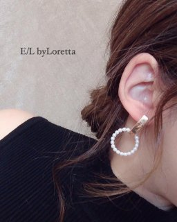【1/25(sat)21:00〜Order Start.】 Stick pearl hoop pierce/earring