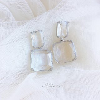 Crystal clear bijou pierce(Silver)
