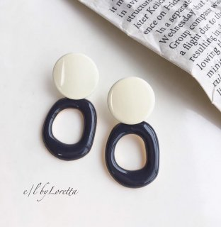 Color hoop pierce(Black)