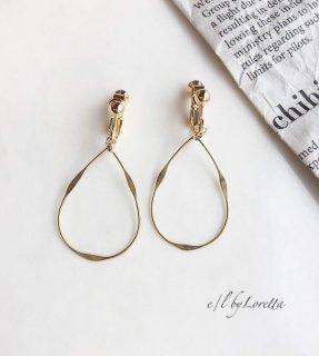 真鍮 Shizuku hoop pierce/earring