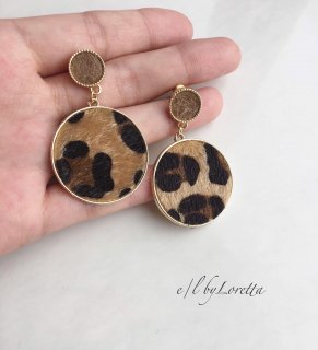 【12/14(sat)21:00〜Order Start.】Leopard circle pierce/earring