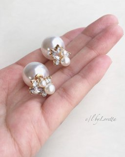 【1/16(thu)21:00〜Order Start.】2way pearl catch bijou pierce
