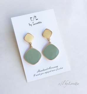 Bi-color pierce/earring(Olive)