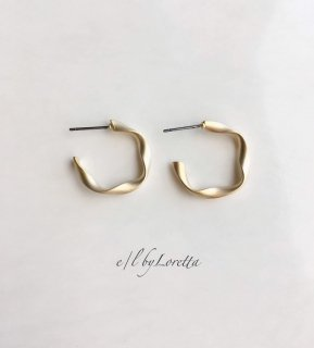 Mat color twist hoop pierce(Gold)