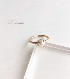 淡水パール 真鍮 hammered Ring