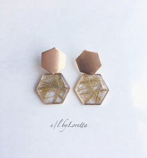 【2/19(wed)21:00〜Order Start.】Metal plate design pierce(Gold)