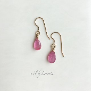 ピンクサファイア Drop pierce/earring