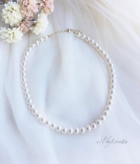 Crystal pearl Necklace(SWAROVSKI)
