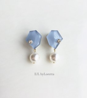 KAKERA pearl pierce/earring(Ice Blue)
