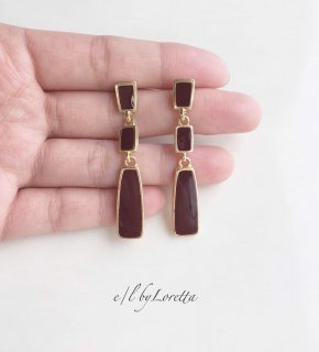 3連 color plate pierce(Bordeaux)