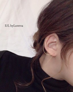 Chain stick ear cuff(Gold)