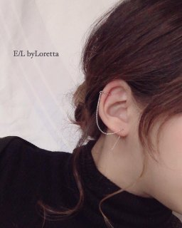 Chain stick ear cuff(Silver)