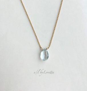 アクアマリン 14kgf necklace