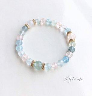 Multi color アクアマリン(ミックスベリル) bracelet